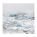 Lagon glaciaire en Islande,photo d'art