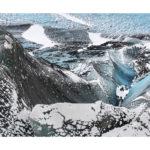 Glacier islandais en hiver,photo d'art