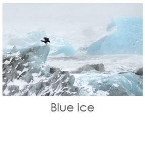 Bleu ice, french art photo